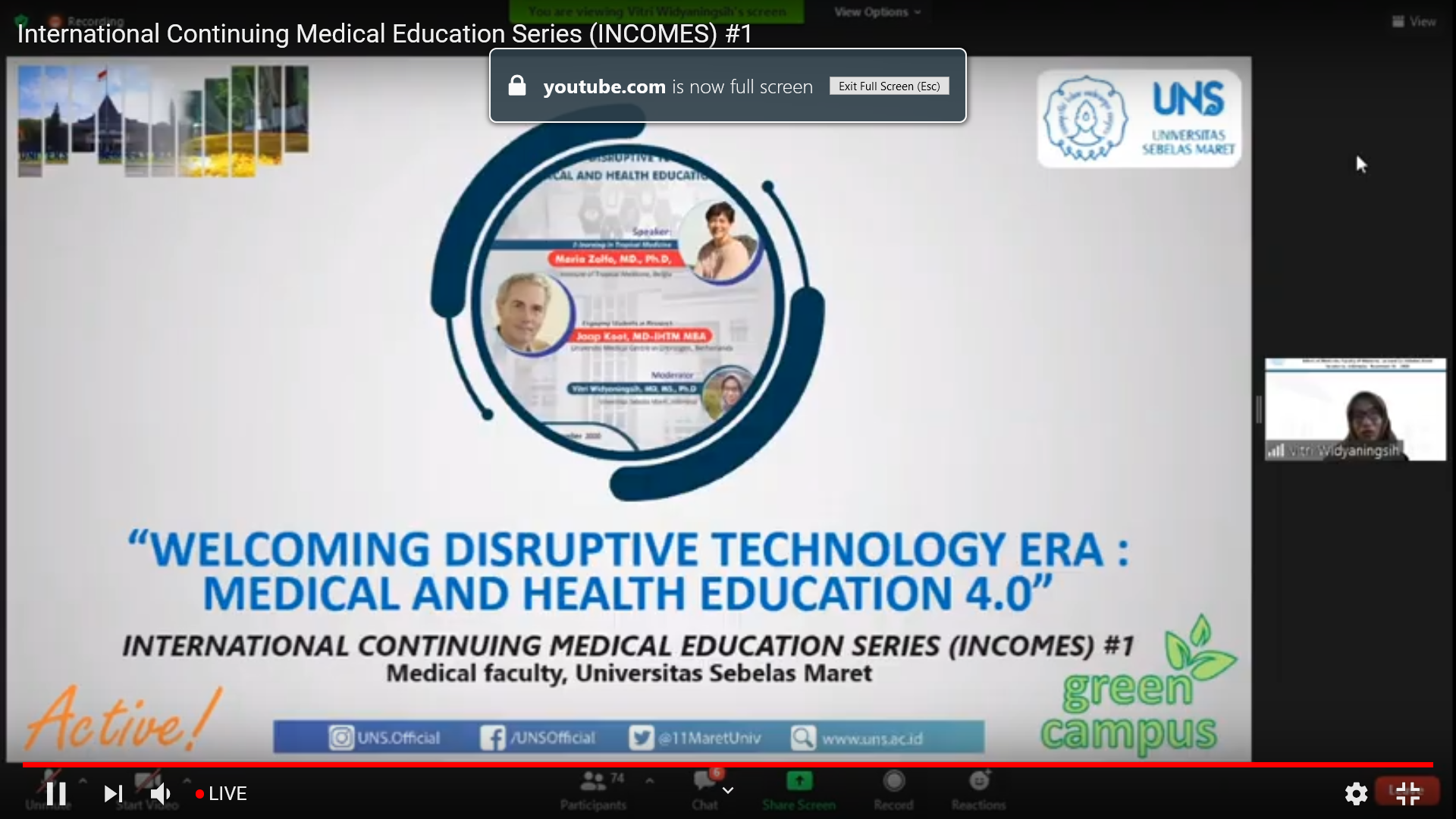 International Continuing Medical Education Series (INCOMES) #1