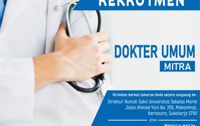 Rekrutmen Dokter Umum Mitra Rumah Sakit UNS 2020 Periode 4