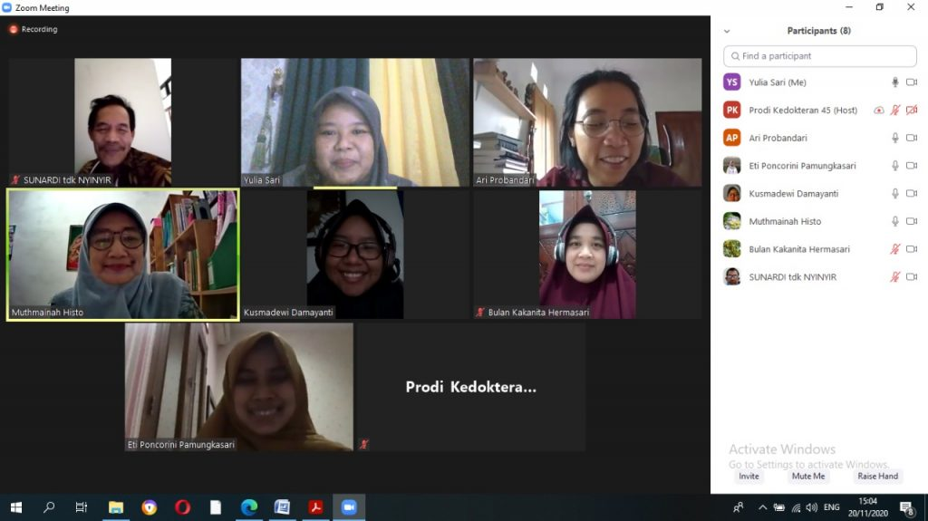 Rapat Koordinasi Tim Skripsi Prodi Kedokteran Fk Uns Program Studi Kedokteran