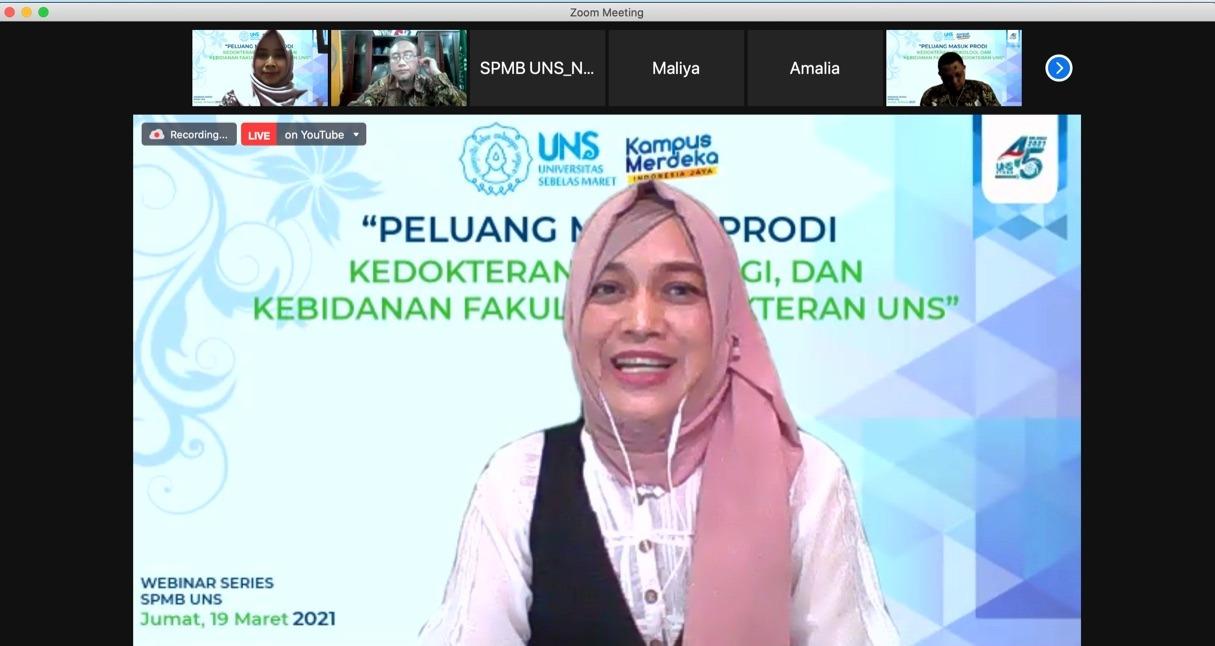 """Webinar Series SPMB """"Peluang Masuk Prodi Kedokteran, Psikologi & Kebidanan FK UNS"""