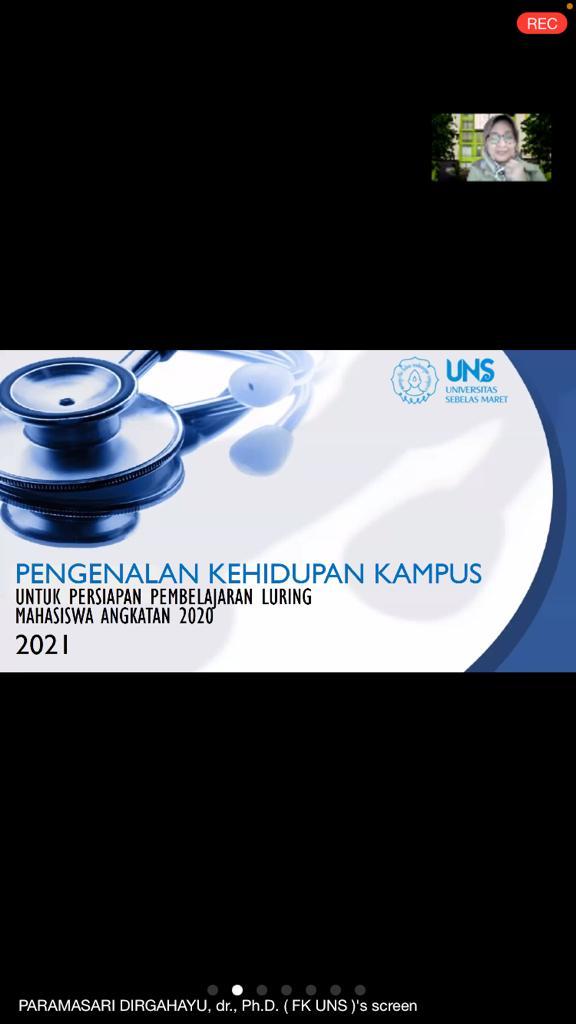 Sosialisasi Orang tua Maru Kegiatan PKKMB Program Studi Kedokteran