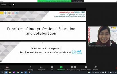 Kaprodi Kedokteran menjadi Narasumber kegiatan  I AM HPExplore Webinar Series on Medical and Health Professions Education