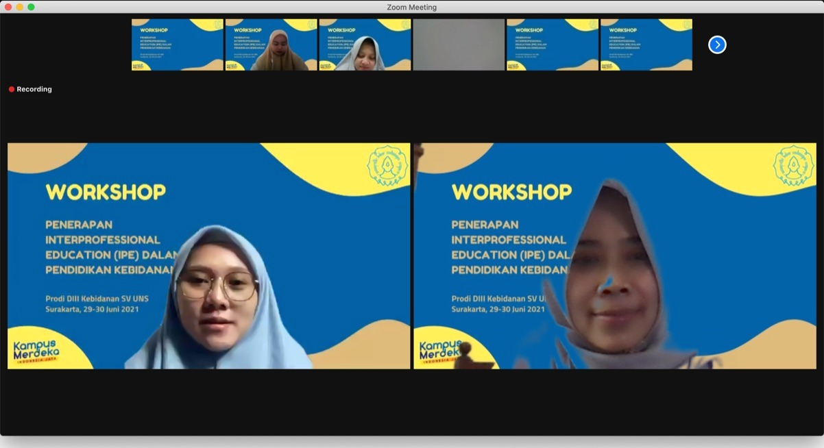 Kaprodi S1 Kedokteran menjadi Narasumber Workshop Interprofessional Education (IPE)