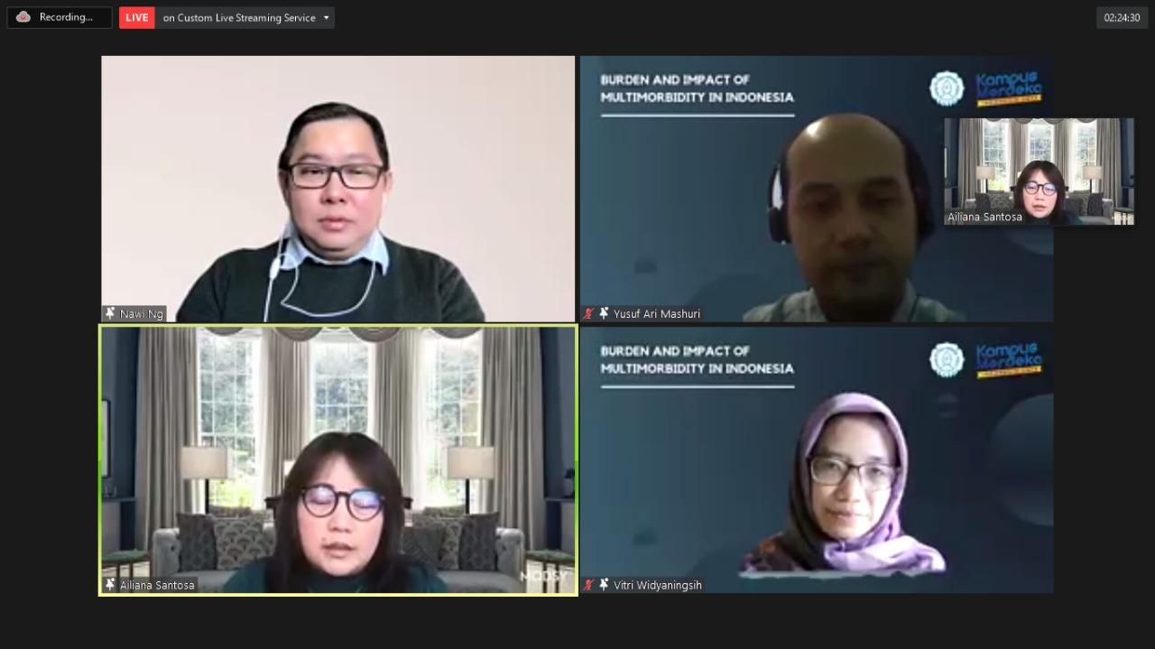 """Kegiatan Webinar Internasional Prodi Kedokteran UNS dengan judul """"Burden and Impact of multimorbidity In Indonesia, Rabu, 22 September 2021 jam 13.00 -14.30 WIB."""
