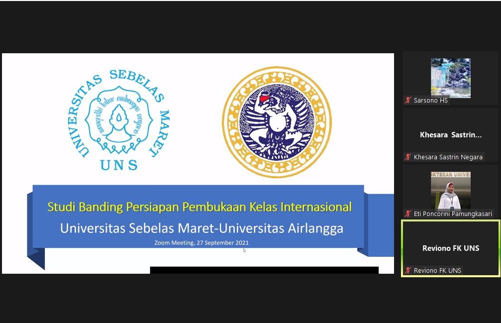 Acara studi banding kelas internasional ke FK UNAIR, secara daring, 27 September 2021