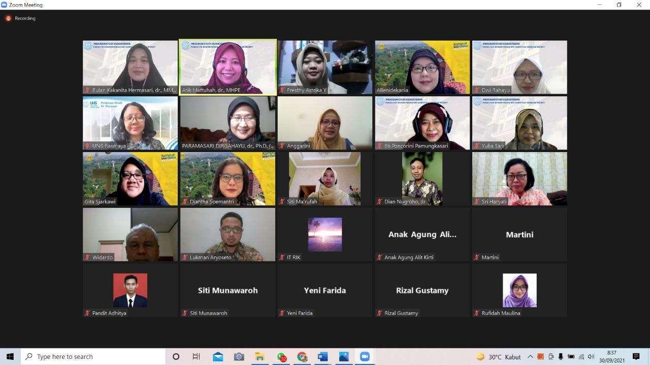 Studi Banding Interprofessional Education ke Rumpun Ilmu Kesehatan UI, 30 September 2021